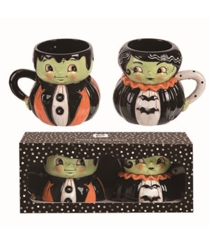 Dol Mr & Mrs. Frank Mug In Box S/2
