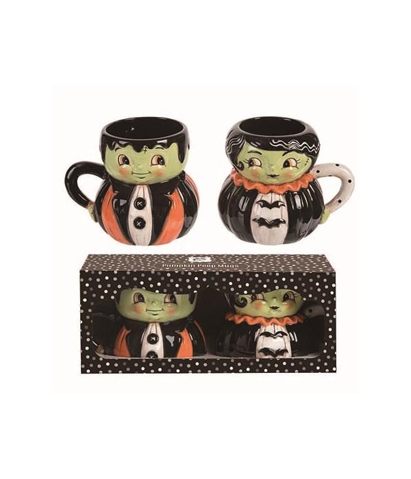 Dol Mr & Mrs. Frank Mug In Box S/2