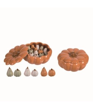 Dol Pumpkin S/P Shakers w/Display S/17