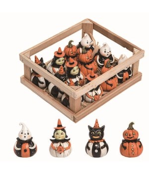 Res Mini Pumpkin Peeps In Crate S/12