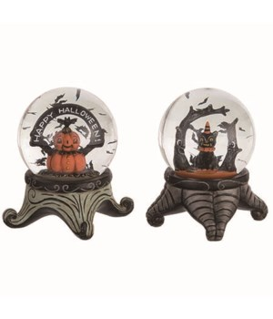 Res/Glass Halloween Water Globe 2 Asst