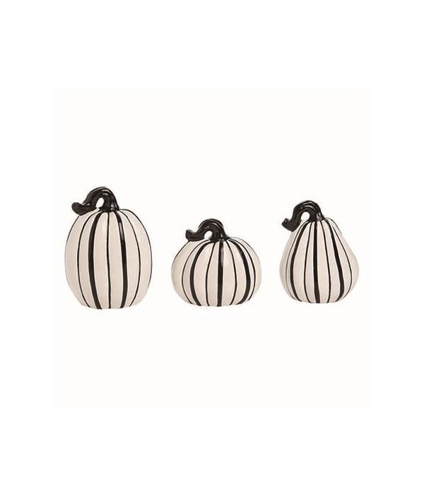 Dol Slim Black & White Pumpkins S/3