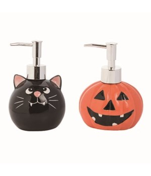 Dol Cat/Jack Soap Dispenser 2 Asst