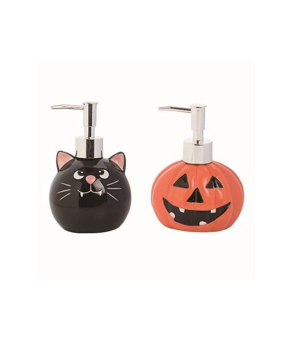 Dol Cat/Jack Soap Dispenser 2 Asst