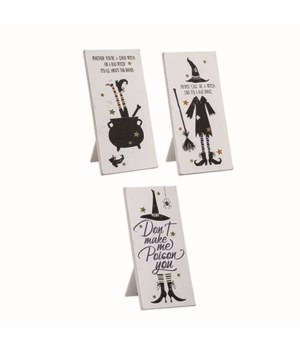 MDF Witchy Home Decor Sign 3 Asst