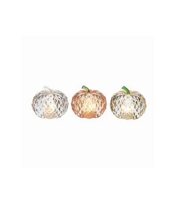Acrylic L/U Crystalized Pumpkin 3 Asst