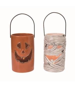 Dol L/U Pumpkin/Mummy Lantern 2 Asst