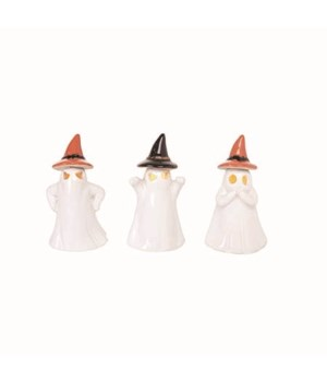 Sm Cer Light Up Ghost Decor 3 Asst
