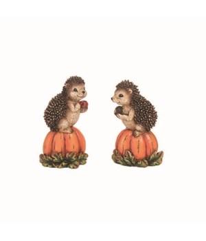 Res Hedgehog On Pumpkin Fig 2 Asst