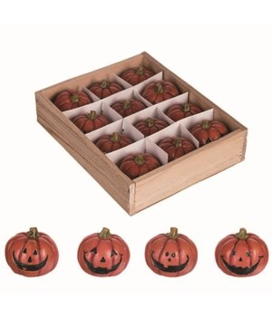Res Mini Jack-O-Lanterns In Box S/12