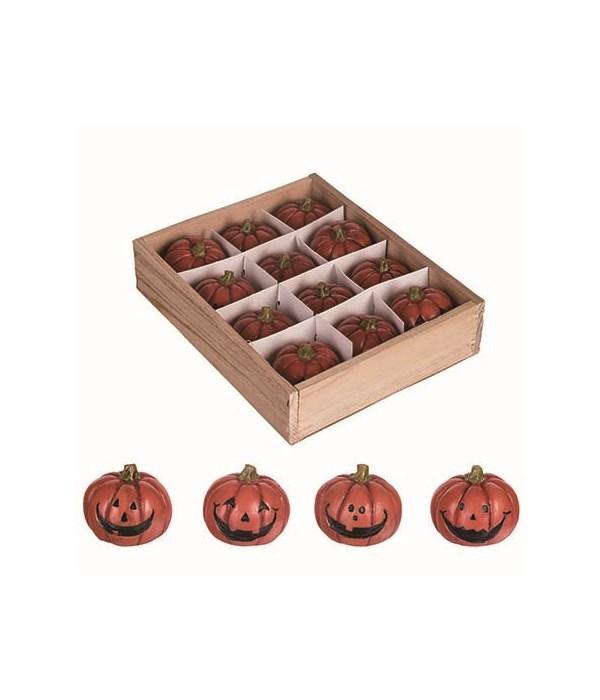 Res Mini Jack-O-Lanterns In Box S/12