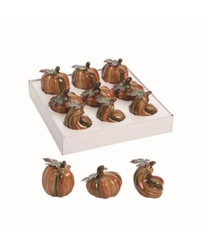 Dol Mini Pumpkins In Display S/9