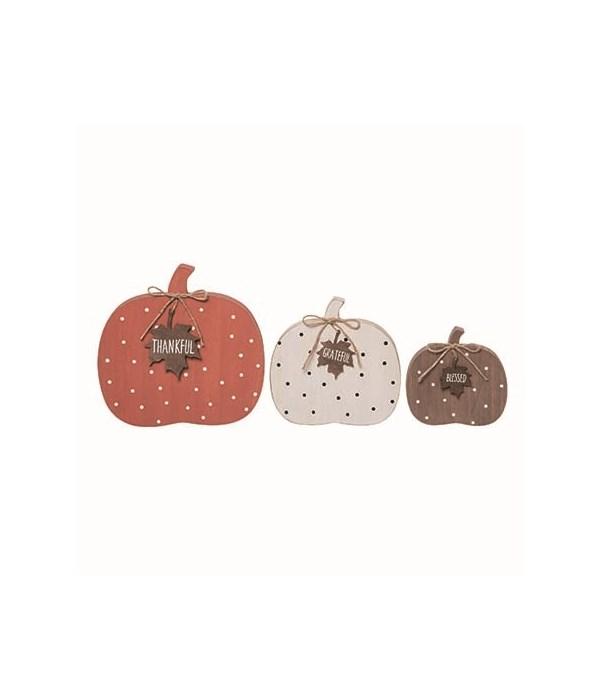 MDF Dot Pumpkins S/3