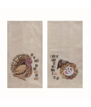 Fabric Harvest Joy Tea Towel 2 Asst