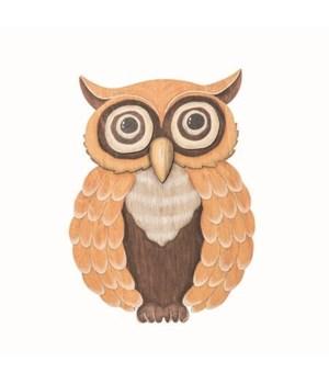 Plywood Autumn Owl Decor