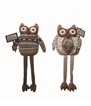 Plush Owl Shelf Sitter 2 Asst