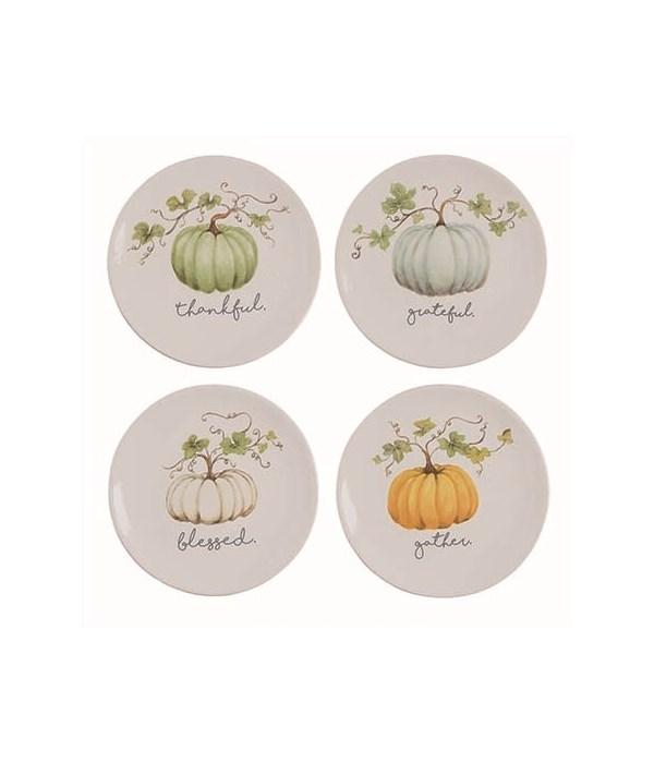 Dol Pumpkin Plate 4 Asst