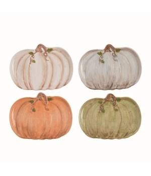 Dol Heirloom Pumpkin Plate 4 Asst