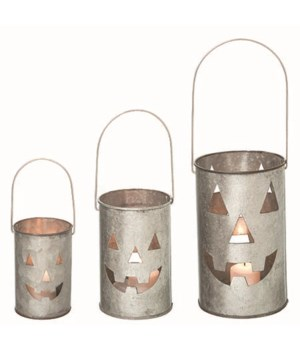 Metal Mini Spooky Lanterns S/3