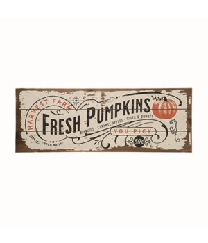 Wood Fresh Pumpkins Decor
