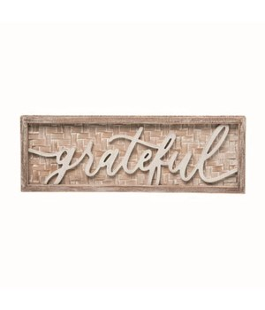 Wood Grateful Frame Decor