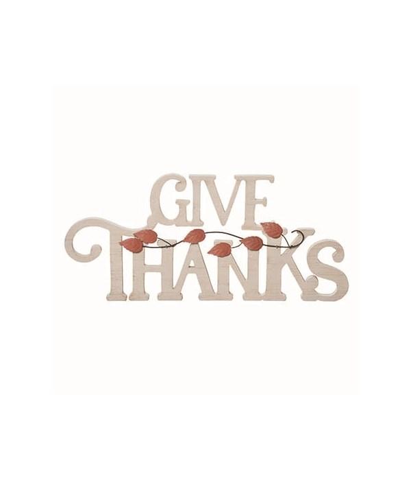 MDF Give Thanks Decor