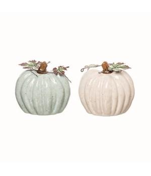Cer Heirloom Pumpkin Decor 2 Asst