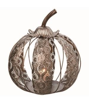 Lg Metal Die Cut Pumpkin C/H