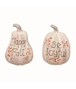 Res L/U Carved Pumpkin Decor 2 Asst