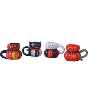 Dol Pumpkin Peep Mug 4 Asst
