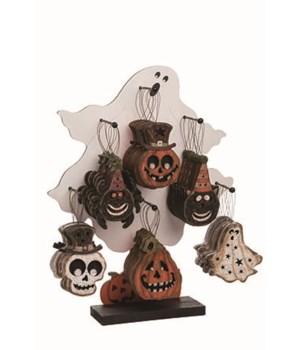 Plywood Halloween Orns w/Display S/36