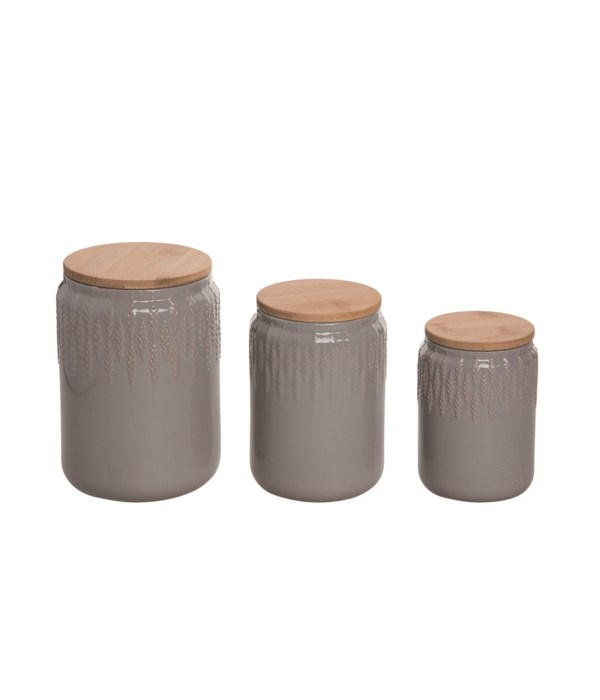Stoneware Common Ground Canister S/3