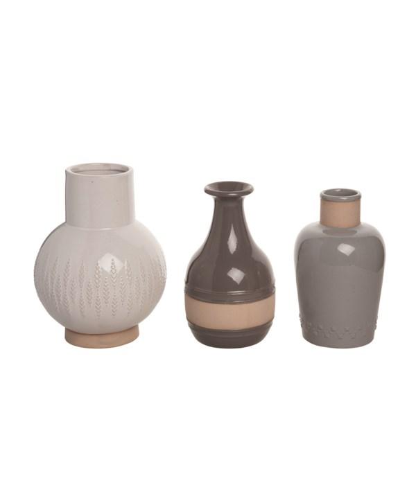 Stoneware Common Ground Vase S/3