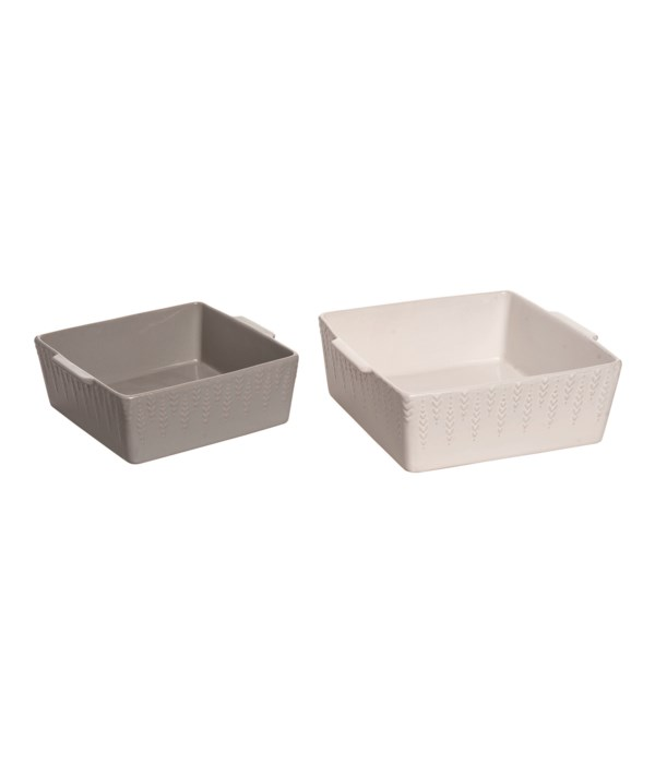 Stoneware Common Ground Bakeware S/2