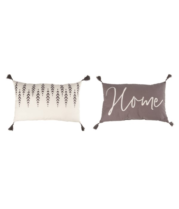 Fabric Embroidered Home Pillow 2 Asst