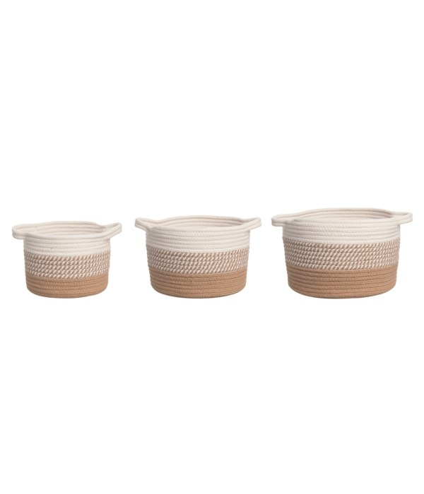 Rope Baskets S/3
