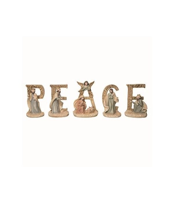 Res Peace Nativity S/5