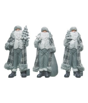 Res Plaid Coat Santa 3 Asst