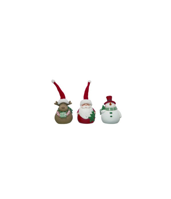Res Merry Christmas Character Fig 3 Asst
