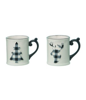 Dol Reindeer/Tree Mug 2 Asst