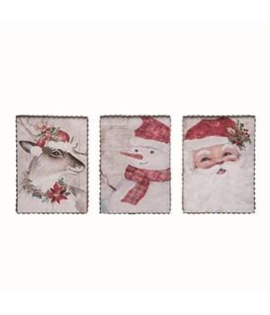 MDF Rustic Christmas Decor 3 Asst