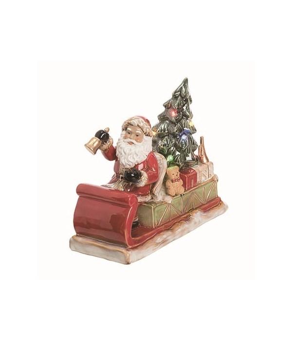 Cer Light Up Santa's Sleigh Decor
