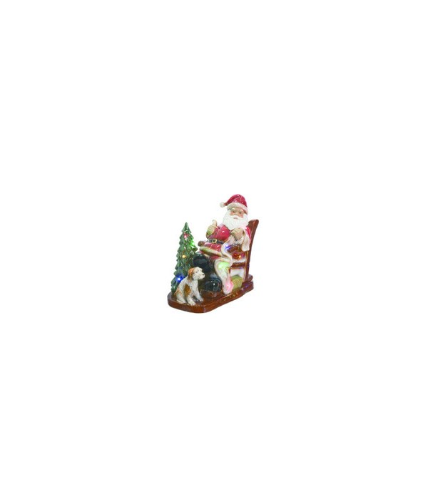 Cer Light Up Santa In Chair
