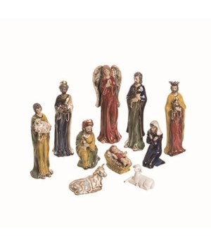 Cer Painted Nativity S/11