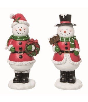 Res Red Outfit Snowman Fig 2 Asst