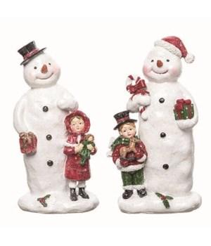 Res Glitter Snowman Fig 2 Asst