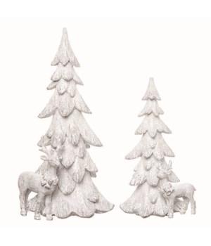 Res Christmas Tree Decor S/2
