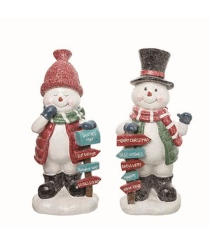 Res Snowman Decor 2 Asst