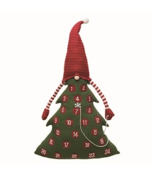 Plush Tree w/Gnome Hat Advent Calendar