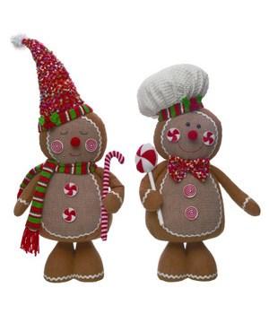 Plush Gingerbread Shorty 2 Asst